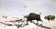 Buffalo Hunt - Peter Rindisbacher