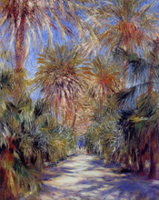 Algiers, the Garden of Essai - Pierre Auguste Renoir