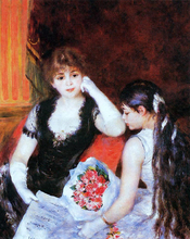 At the Concert (also known as Box at the Opera) - Pierre Auguste Renoir