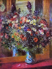 A Bouquet in Front of a Mirror