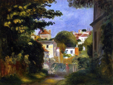 House and Figure among the Trees - Pierre Auguste Renoir
