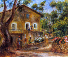 A House in Collett at Cagnes - Pierre Auguste Renoir