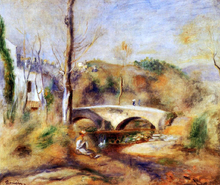 Landscape with Bridge - Pierre Auguste Renoir