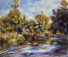 Landscape with River - Pierre Auguste Renoir