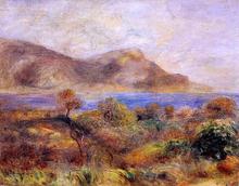 Mediteranean Landscape - Pierre Auguste Renoir