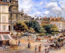 Place de la Trinite - Pierre Auguste Renoir
