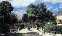 The Champs-Elysees during the Paris Fair of 1867 - Pierre Auguste Renoir