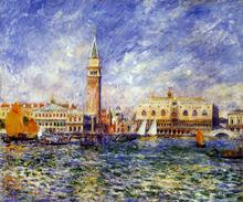 The Doges' Palace, Venice - Pierre Auguste Renoir