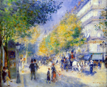 The Great Boulevards - Pierre Auguste Renoir