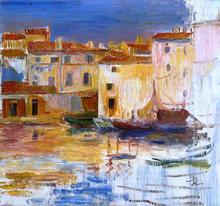 The Port of Martigues - Pierre Auguste Renoir