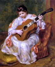 Woman Playing the Guitar - Pierre Auguste Renoir