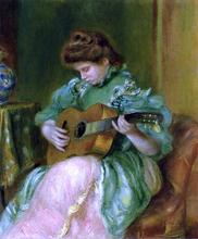 A Woman with a Guitar - Pierre Auguste Renoir