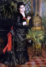 Woman with a Parrot (also known as Henriette Darras) - Pierre Auguste Renoir