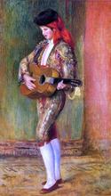 A Young Guitarist Standing - Pierre Auguste Renoir