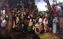 A Landscape With Saint John The Baptist Preaching