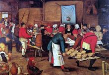 The Wedding Feast in a Barn