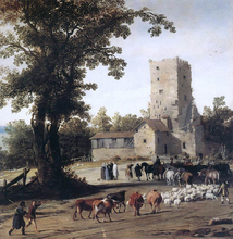 Italianate Landscape with the Parting of Jacob and Laban - Pieter Jansz Post