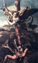 St Michael and the Satan - Raphael