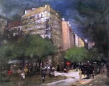 Cafe du Dome (also known as On the Boulevard Montparnasse) - Robert Henri