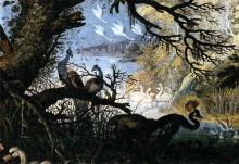 Landscape with Birds (detail) - Roelandt Jacobszoon Savery