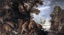 Landscape with Wild Animals - Roelandt Jacobszoon Savery