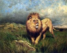 Lion and Prey (also known as The Kill) - Rosa Bonheur