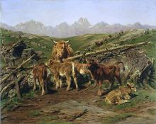 Weaning the Calves - Rosa Bonheur