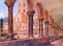 A View of Monreale, Above Palermo - Rudolf Von Alt