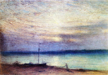 Barnegat Bay at Sunset, Mantaloking, New Jersey - Jr. Samuel Colman
