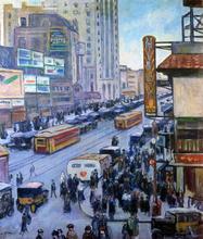 Times Square - Samuel Halpert