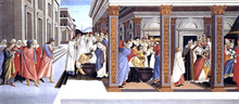 Baptism of St Zenobius and His Appointment as Bishop - Sandro Botticelli