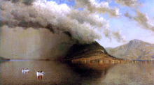 A Sudden Storm, Lake George (also known as Coming Rain, Lake George) - Sanford Robinson Gifford