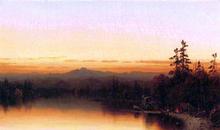 A Twilight in the Adirondacks - Sanford Robinson Gifford