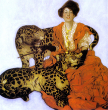Woman with Leopards - Sarah Stilwell Weber