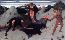 St Anthony the Hermit Tortured by the Devils -  Sassetta