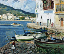Coastal Villages and Towns Paintings
