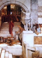 After the Audience - Sir Lawrence Alma-Tadema