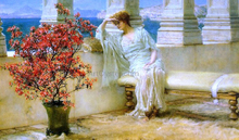 Her Eyes are with Her Thoughts and They are Far Away - Sir Lawrence Alma-Tadema