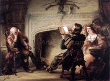 An Early Reading of Shakespeare - Solomon Alexander Hart