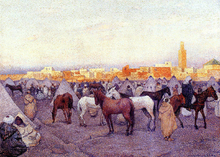 Encampment near a Moroccan Village - Theo Van Rysselberghe