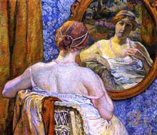 A Woman at a Mirror