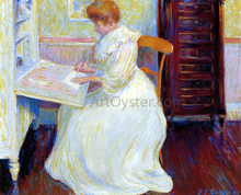 Martha at Her Desk - Theodore Earl Butler