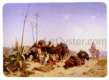 Mittagruhe In Algier - Theodore Horschelt