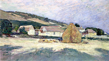 A Farm House in Giverny - Theodore Robinson