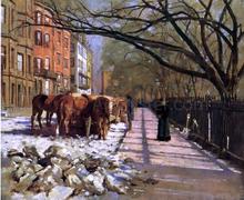 Beacon Street, Boston - Theodore Robinson