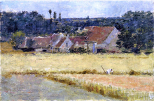 A French Farmhouse - Theodore Robinson