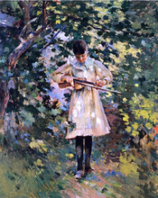 The Young Violinist (also known as Margaret Perry) - Theodore Robinson