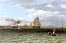 Philadelphia Harbor - Thomas Birch