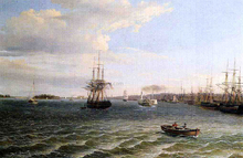 View of Philadelphia, Looking South on the Delaware River - Thomas Birch