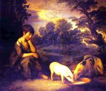 Girl with Pigs - Thomas Gainsborough